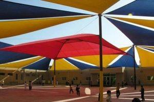 تركيب افضل مظلات مدارس تغطية ساحات المدارس