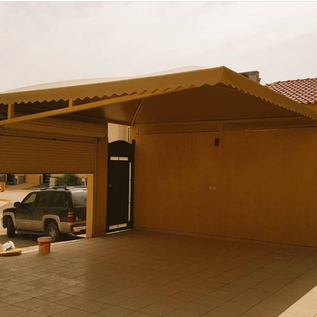 أحدث الاشكال والتصاميم لمظلات مداخل المنازل والفلل والشركات بالطائف
