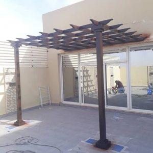 مظلات خشب بجدة | تصاميم واشكال جديدة لمظلات المنازل الخارجية